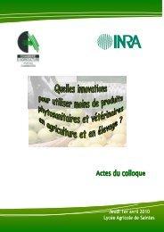 Actes du colloque - INRA