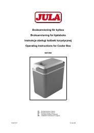 Instrukcja obsÃ…Â'ugi (264.2 KB - pdf) - Jula