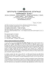 Lettera - Istituto Comprensivo Armando Diaz - Venezia Castello ...