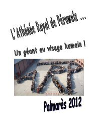 Palmarès début-résultats-prix - Athénée Royal de Péruwelz
