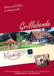 Genuss und Erlebnis im Schwarzwald - Kalikutt