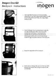 Inogen One G3 - Backpack Instructions (PDF) - Direct Home Medical