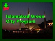 Islamabad Green City Program Islamabad Green City Program
