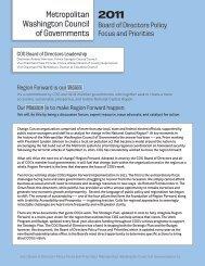 2011 COG Board Policy Focus and Priorities - Metropolitan ...