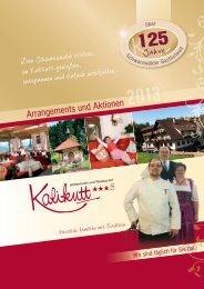 Arrangements & Aktionen 2013 als - Kalikutt