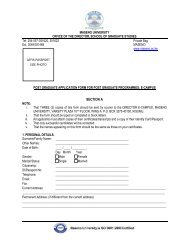 Application Form for Post Graduate Programmes - Join the first and ...
