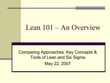 Principles of Lean - an Overview - NAEM