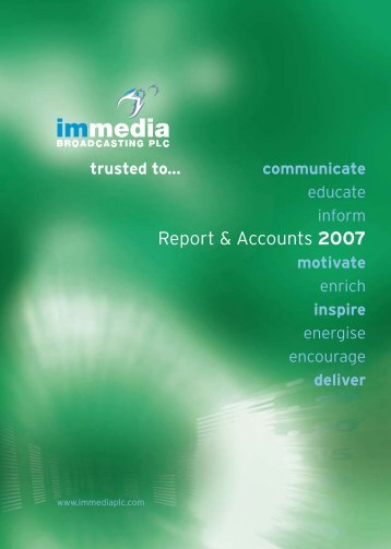 Report & Accounts 2007 - Immedia