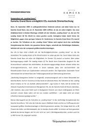 Kameha Grand Bonn ermöglicht CO2-neutrale Zimmerbuchung