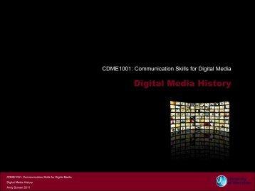 CDME1001 - Digital Media History