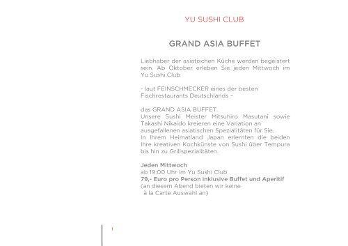 GRAND ASIA BUFFET - Kameha Grand Bonn