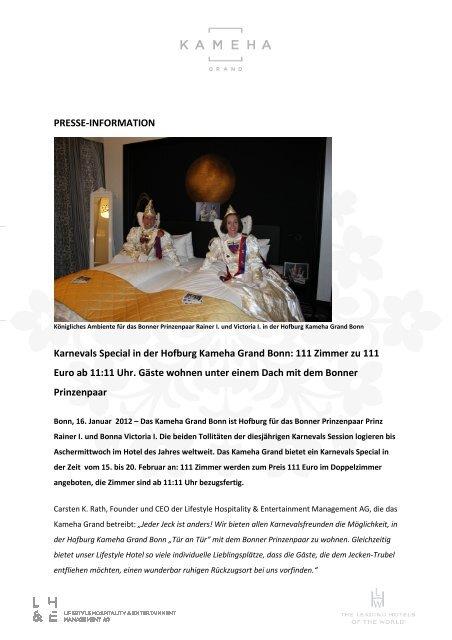 PM_Karneval Promotion - Kameha Grand Bonn
