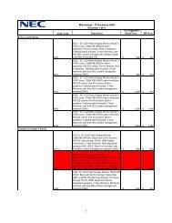 Price List (Large Format/Digital Signage Displays) [.pdf]