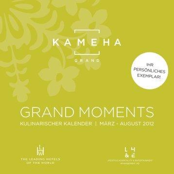 GRAND MOMENTS - Kameha Grand Bonn