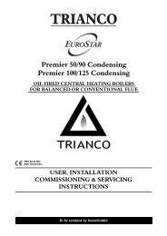 Trianco Premier Kitchen HE Oil Boilers 50,90100 & 125 ... - BHL.co.uk