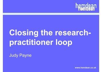 Dr Judy Payne - IWRM-net
