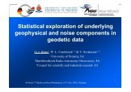 Statistical exploration of underlying geophysical and ... - Inkaba.org
