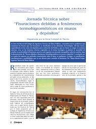 "Jornada Técnica sobre ""Fisuraciones debidas a fenómenos ..."