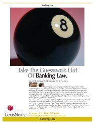Take The Guesswork Out Of Banking Law. - Corporate Counsel