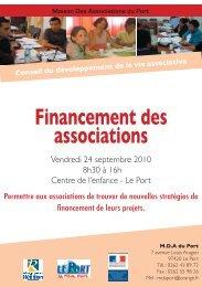 Financement des associations - Les Avirons