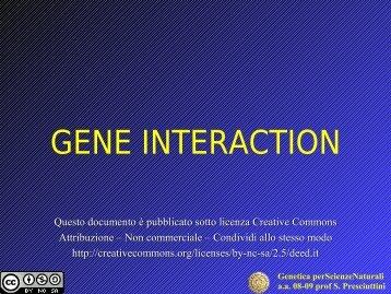 Genetica perScienzeNaturali aa 08-09 prof S. Presciuttini