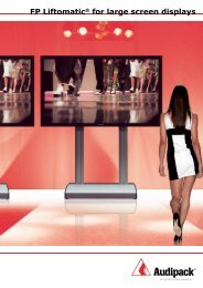 FP Liftomatic® for large screen displays - Audipack
