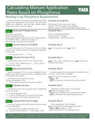 Calculating Manure Application Rates Based on Phosphorus - TIAER