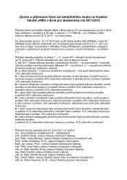 Zpráva o přijímacím řízení do bakalářského studia na Hudební ...