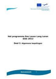 gids voor het programma Een Leven Lang Leren - Europa