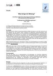 Bildungsnutzen arge Bildungshäuser - Österreichisches Institut für ...