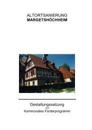 Gestaltungssatzung - bei der Margetshöchheimer Mitte
