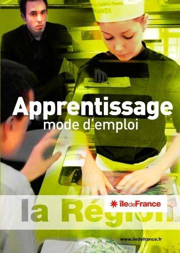 L'apprentissage, mode d'emploi - CARIF - Ile de France