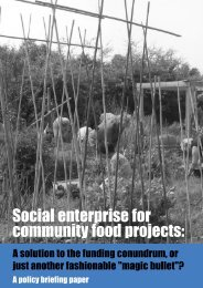 Social enterprise for community food projects: - Sustain
