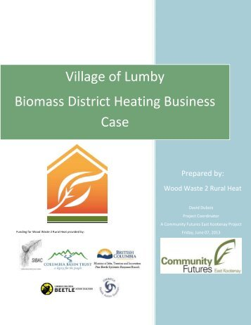 Village of Lumby Biomass District Heating Business Case