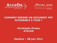 balisage du PDF en cours, 1 - AcceDe PDF