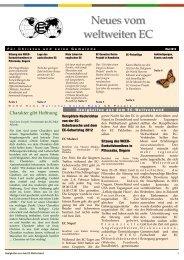 Mai Ausgabe - World's Christian Endeavor Union