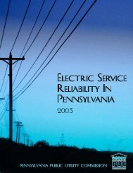 2005 Report - Pennsylvania Public Utility Commission