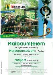 Maibaumfeiern Maibaumfeiern - Marktgemeinde Moosburg