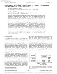 Analytic band Monte Carlo model for electron transport in Si ...