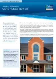 Care homeS review | spring 2011 - Colliers International