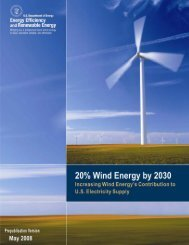 20% Wind Energy by 2030 - Wind Powering America