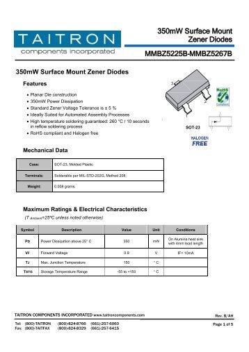 MMBZ5225B - Taitron Components, Inc.