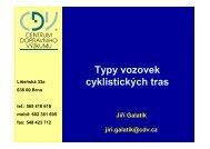 Ing. Jiří Galatík - Typy vozovek cyklistických tras
