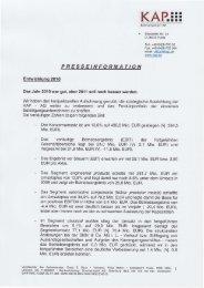 14.02.2011 Pressemitteilung der KAP AG Februar 2011