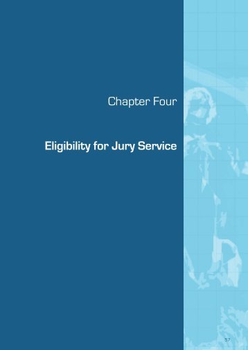 (September 2009) - Chapter 4 Eligiblity for Jury Service