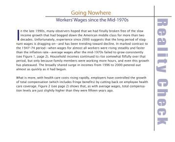 Going Nowhere: Workers' Wages Since the Mid-1970s