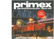 Page 1 Page 2 Primex-Modelleisenbahn, faszinierend wie ihr ...
