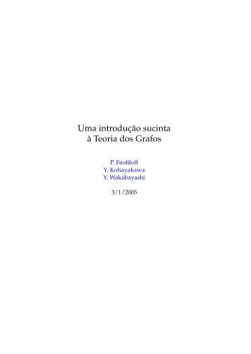 Uma Introducao Sucinta aa Teoria dos Grafos - Rede Linux IME-USP