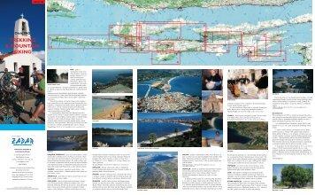Karta - Trekking & biking otok Pag - Zadar
