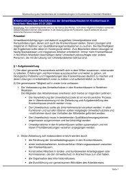 Arbeitsordnung - Arbeitskreis Umweltschutz im Krankenhaus NRW